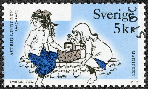 Photo  SWEDEN - 2002: shows Madicken, series Astrid Anna Emilia Lindgren (1907-2002), S