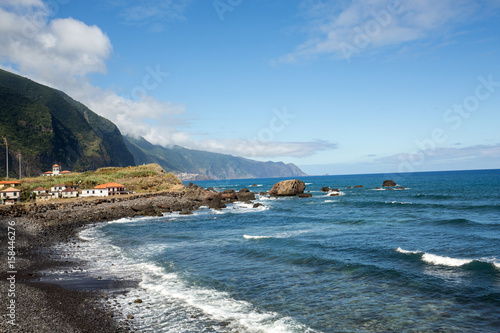 Foto op Canvas Cathedral Cove View of the Northern coastline of Madeira, Portugal, in the Sao Vicente area