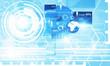 Blue business screen