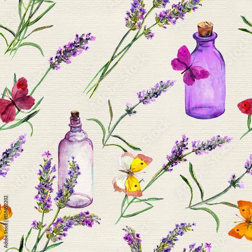 kwiaty-lawendy-butelki-oleju-motyle-jednolite-wzor-do-aromaterapii-akwarela