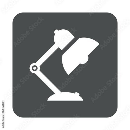 Canvastavla  Icono plano lampara tipo flexo en cuadrado gris