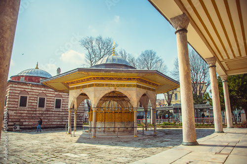 Fotografia, Obraz  fountain of Hagia Sophia in the courtyard of the Mosque