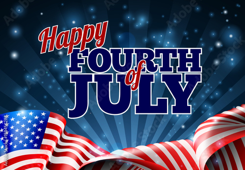 Photo  Fourth of July American Flag Background