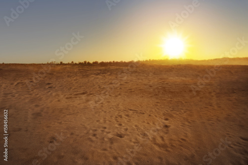Photo sur Toile Desert de sable Beautiful views of desert
