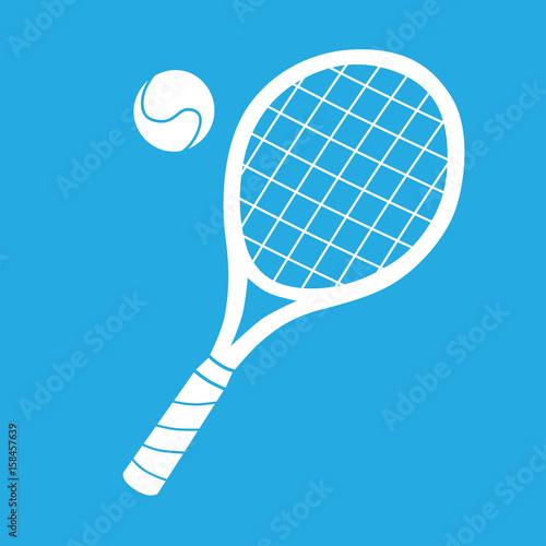 Obraz na plátně  Tennis racket and ball icon
