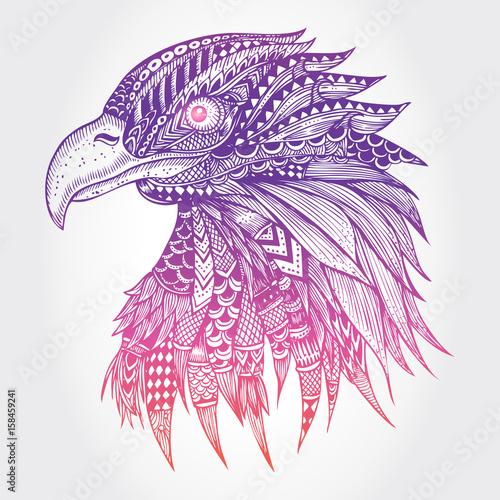 abstrakcjonistyczna-orzel-ilustracja-wektor