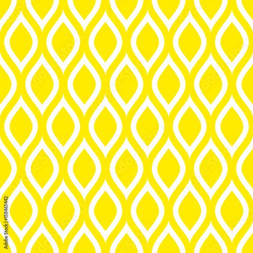 Motiv-Fußmatte - Abstract Retro Seamless Pattern Lemons