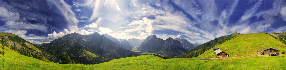 Fototapety, obrazy: 360° Karwendel Panorama mit Föhnwolken