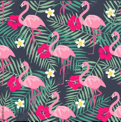tropikalny-modny-wzor-z-rozowym-flamingo-ananasy-tropikalne-liscie-tlo-plaza-tropikalny-raj