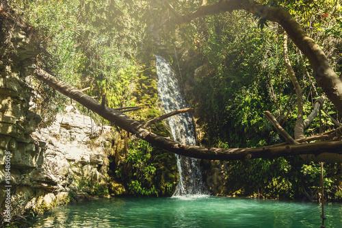 Adonis Baths Waterfalls Wallpaper Mural
