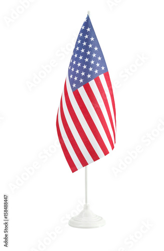 ba385042cb3 Small american flag on the stand. Isolated on white. - Buy this ...