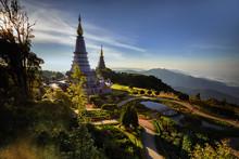 Vacation Holidays Background Wallpaper - Summer, Travel, Vacation And Holiday Concept . Doi Inthanon, Chiang Mai, Thailand .