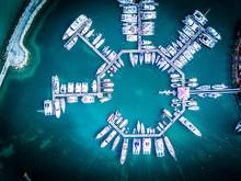 Boats In The Marina Of The Marigot Bay In Saint Martin