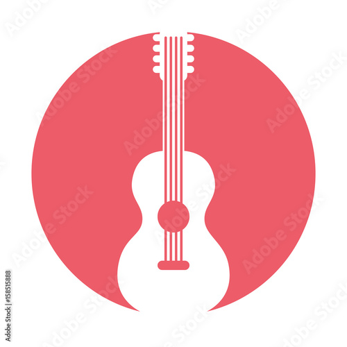 Pinturas sobre lienzo  guitar hippie style icon vector illustration design