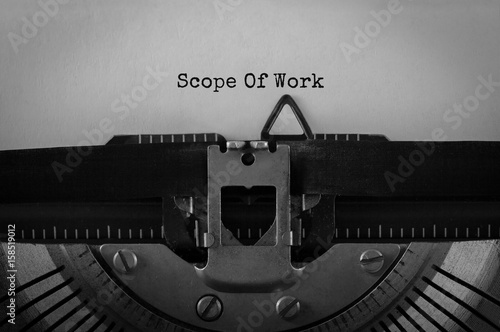 Fotografie, Obraz  Text Scope Of Work typed on retro typewriter