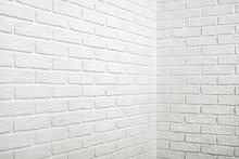 White Brick Wall With Corner, ...