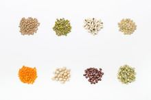 Small Piles Of Legumes Isolate...