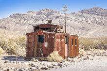 The Ghost Town Of The Deserted Goldmine Town Of Rhyolite