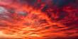 Leinwandbild Motiv Red sky at sunrise