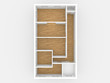 canvas print picture - 4 Zimmer Wohnung,Ansicht von oben (Top)