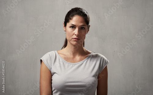 Serious girl Fototapet