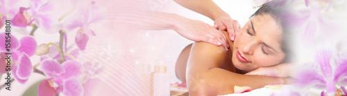 Keuken foto achterwand Spa Woman having massage