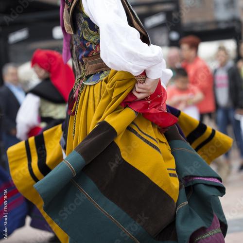 Dancing. Asturias' traditional costume