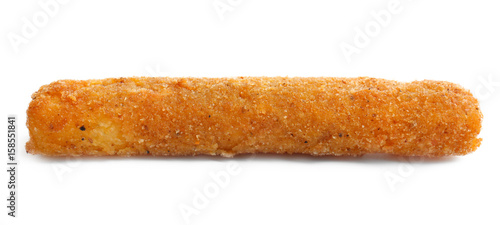 Fotografia  Fried cheese stick on white background