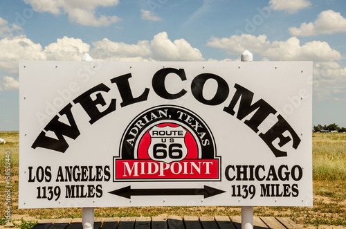 Midpoint of Route 66 Poster
