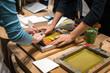 Leinwanddruck Bild - The art of paper workshop