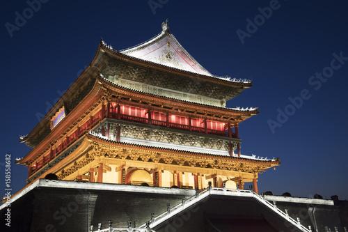 Foto op Plexiglas Xian Drum Tower of Xi'an, downtown Xi'an Shaanxi province of China