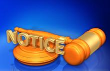 Notice Law Concept 3D Illustra...