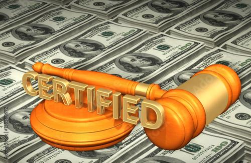 Fotografia, Obraz  Certified Law Concept 3D Illustration