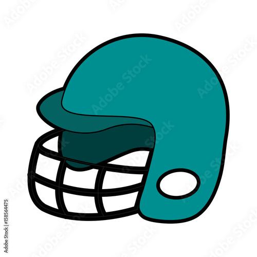 helmet baseball related icon image vector illustration design Poster