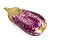 Eggplant Nubia Purple And White