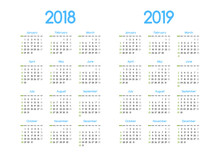 New Year 2018 And 2019 Vector ...