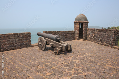 Poster Vestingwerk Gun and watchtower at Fort Reis Magos