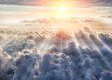 Piękne tło błękitnego nieba - 158573690