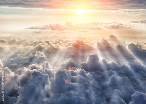 Aluminium Prints Heaven Beautiful blue sky background