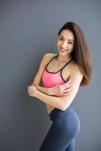 Beautiful Fitness Woman Standi...