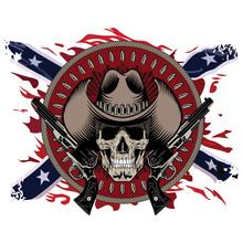 Design Gunfighter. Skull In Co...