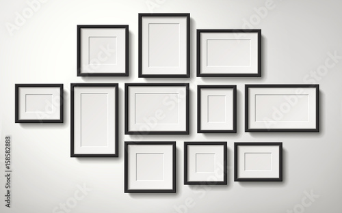 fototapeta na ścianę picture frames collection