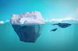 Eisberg Wale Meer Arktis unterwasser