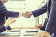 Business partnership handshake for deal business project, Business success concept