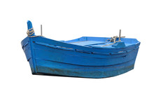 Wooden Fishing Boat Isolated O...