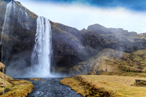Fotobehang Natuur Park Seljalandsfoss is one of the most beautiful waterfalls on the Iceland