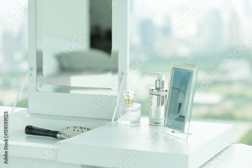 white dressing table Canvas Print