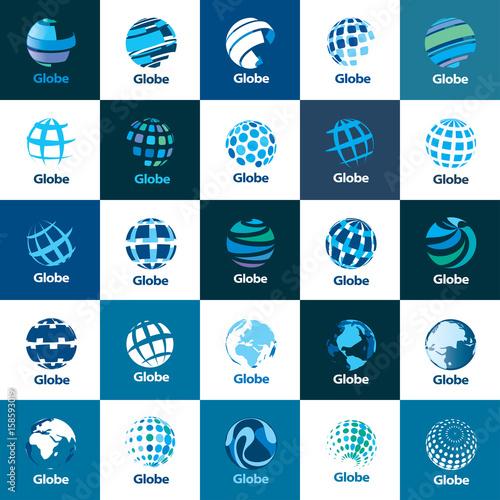 Fototapeta vector logo globe obraz