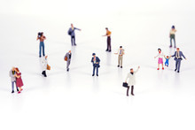 Crowd Of People In Miniature P...