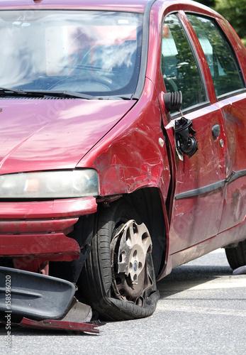 Keuken foto achterwand Vintage cars voiture accident plan large